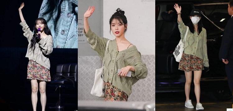 Nữ idol Kpop cũng rất tinh tế khi không nên mặc áo bên trong quá dày hay quá rộng, vì như vậy sẽ khiến chiều cao của IU hạn chế đi, làm giảm đi sức hút của cô.