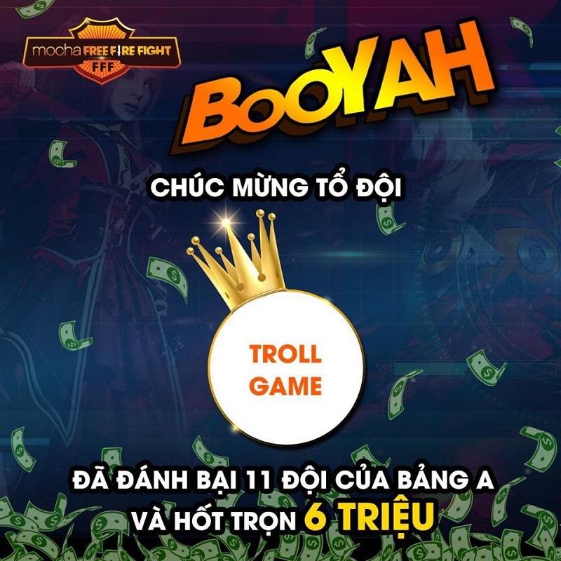 Troll Game - nhất bảng A.