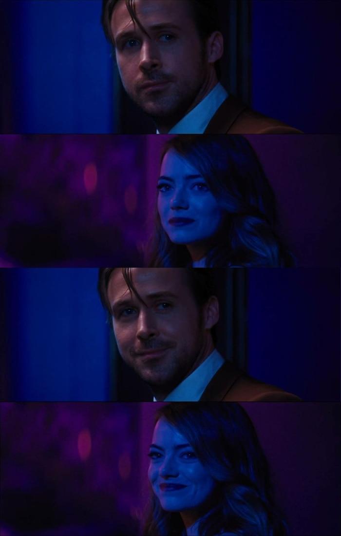 Mia và Sebastian trao nhau nụ cười, rằng cả hai đã thực hiện được ước mơ của riêng mình.