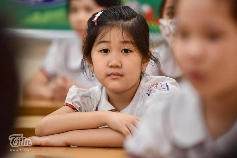 Bên trong một lớp học ở trường TH Thăng Long, Hà Nội