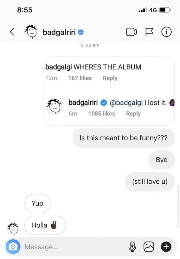 Rảnh rang quá nên Rihanna lại tiếp tục 'troll' fan khi trả lời về album mới.