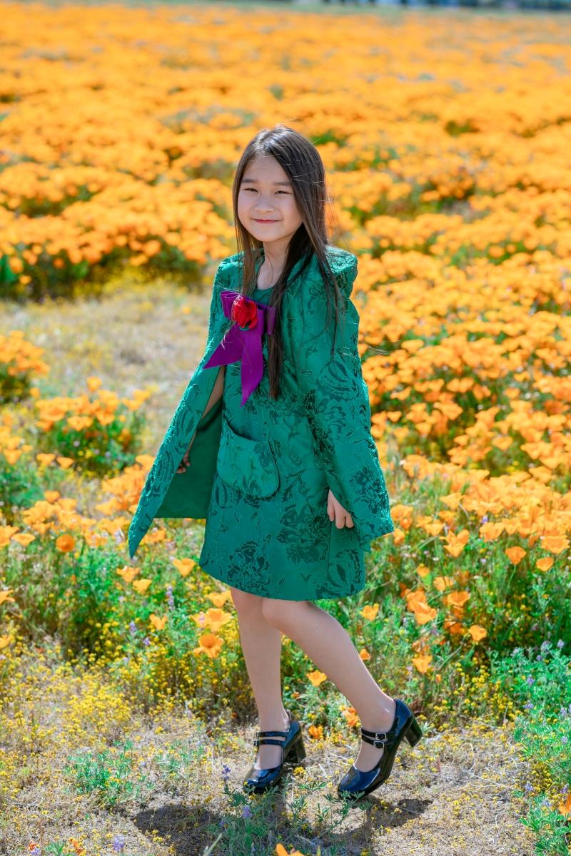 Con gái của Hằng Châu tuy còn nhỏ nhưng đã thể hiện tiềm năng 'nối nghiệp' mẹ trong tương lai.