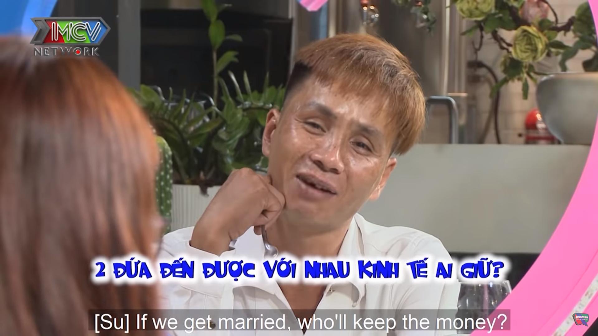 Đến show hẹn hò, cặp đôi gay gắt chuyện giữ tiền sau cưới: Đàng trai nói mượn không cho thì trộm, đàng gái đòi kiện ra tòa 2