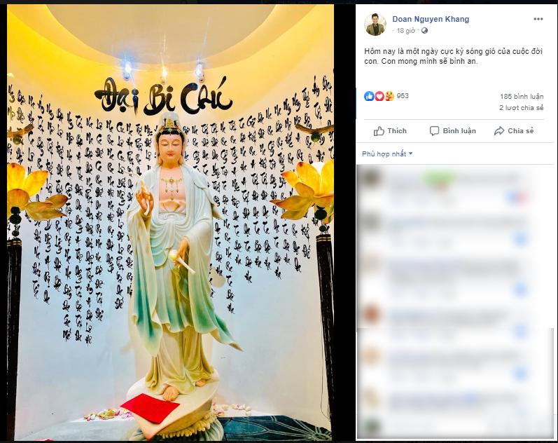 Bài đăng đầu tiên của Nguyên Khang sau sự cố của nhà hàng