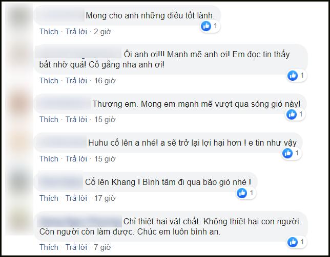 Nhiều người gửi lời chia sẻ nỗi buồn tới Nguyên Khang và động viên MC sau sự cố này