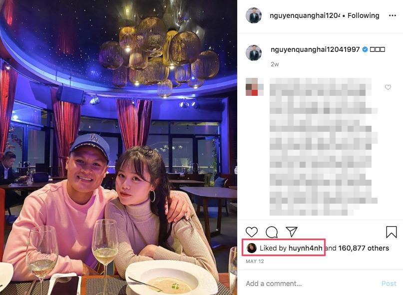 Quang Hải công khai bạn gái mới.