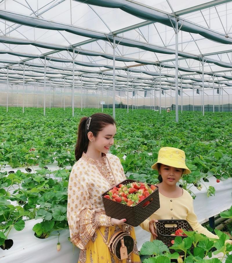 Huỳnh Vy cùng mẹ đi du lịch Đà Lạt, đọ sắc cùng ngàn hoa 3