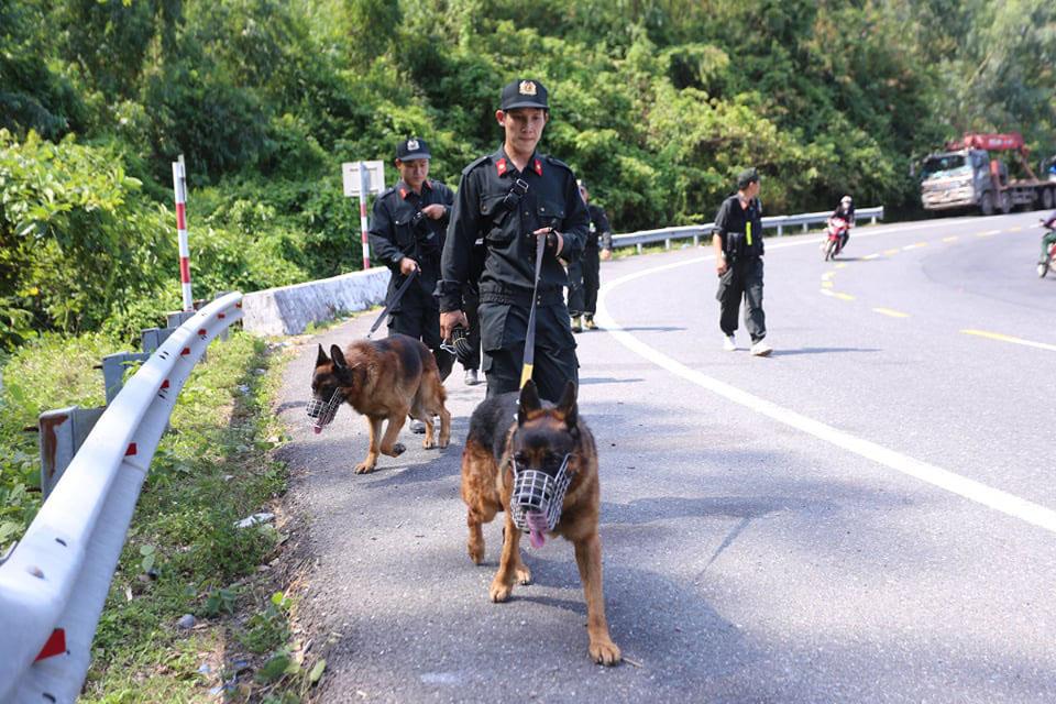 Chó nghiệp vụ tham gia truy tìm phạm nhân vượt ngục