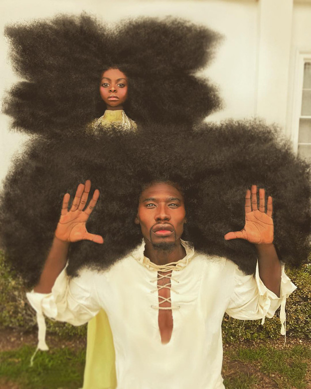 Sở hữu tóc xù bông cao nửa mét, 2 bố con ghi tên vào kỷ lục Guinness 3