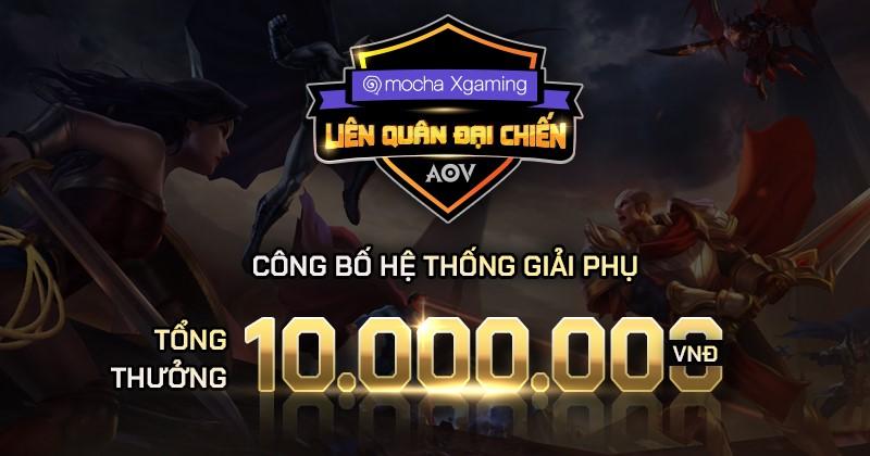 10 giải phụ độc đáo có tổng giá trị 10 triệu đồng.