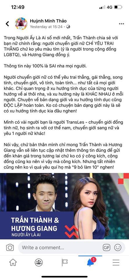Quan điểm của anh Huỳnh Minh Thảo