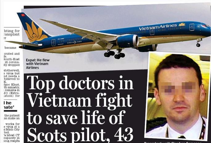 Truyền thông quốc tế dành sự quan tâm đặc biệt cho sự hồi phục của phi công Anh.