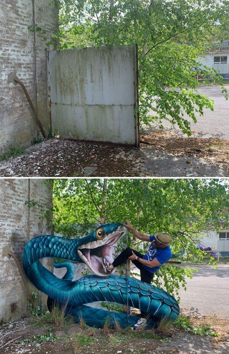 Cách tạo dáng sáng tạo làm tăng giá trị bức tranh trên đường phố Pháp