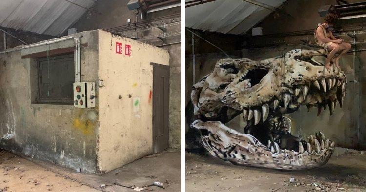 Ghê sợ bức tường ẩn chứa 'quái vật' kinh dị trên đường phố Pháp