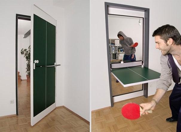 Cửa ra vào kết hợp thiết bị đánh bóng bàn để tập thế dục thể thao tại nhà thích hợp cho những gia đình bận rộn muốn nâng cao sức khỏe