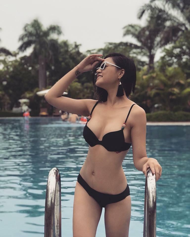 Body chuẩn từng centimet của cựu thí sinh Hoa hậu Việt Nam.