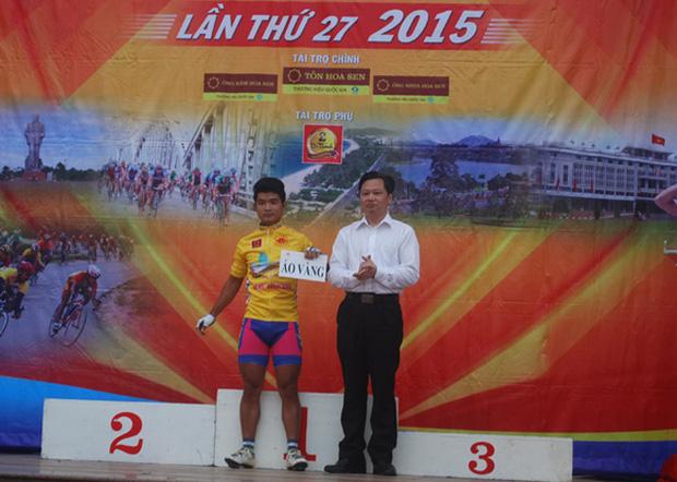Quốc Đỉnh từng giành áo vàng ở giải đấu trên sau chặng Vinh - Đồng Hới.