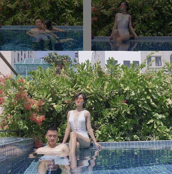 Khoảnh khắc tình bể bình của tiền vệ Huy Hùng và vợ sắp cưới xinh như hotgirl 1