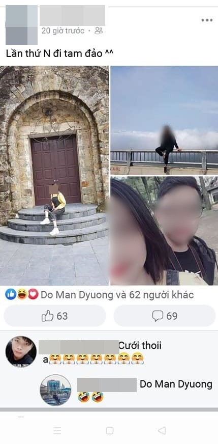 Bằng chứng cô gái đi chơi cùng người con trai khác.