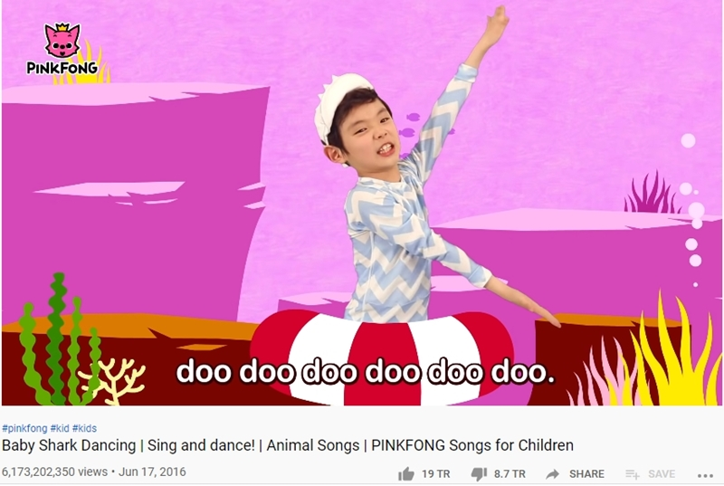 'Baby Shark Dance' với 6,1 tỷ view.