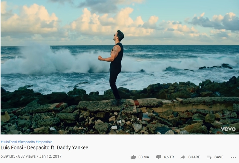 'Despacito' với 6,8 tỷ view.