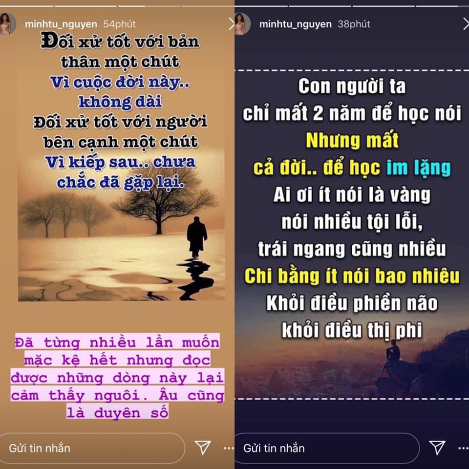 Minh Tú gây hoang mang khi unfollow tất cả bạn bè trên Instagram, liên tục đăng bài 'deep' 1