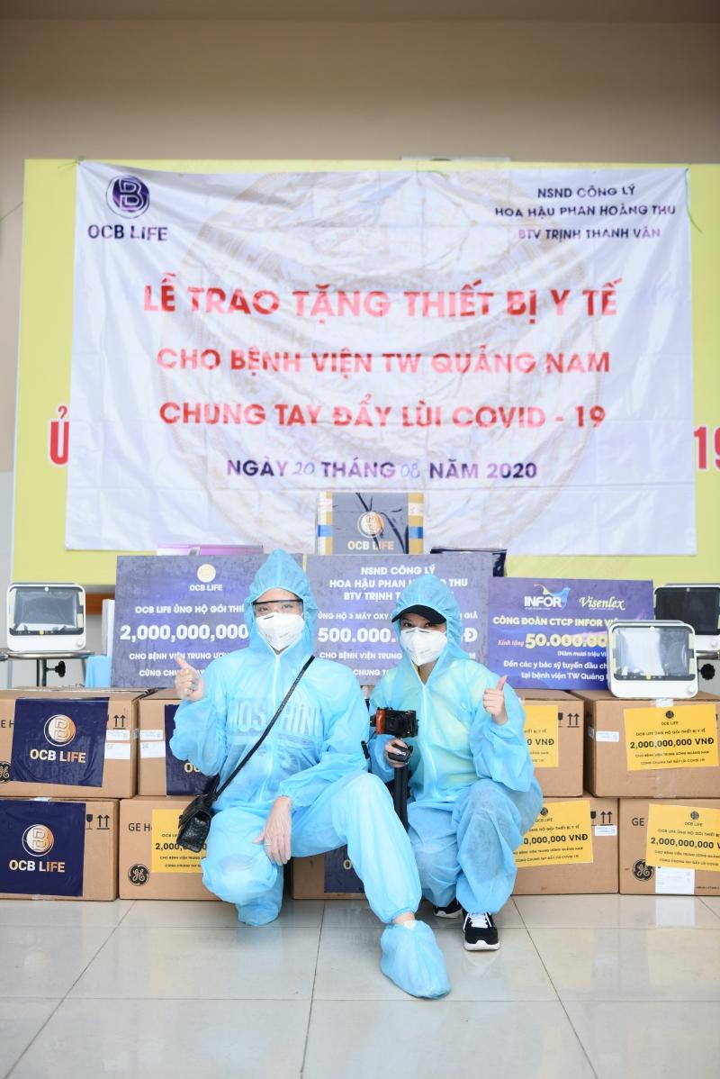 Vào 'tâm dịch' để trao máy thở trị giá 500 triệu đồng, Phan Hoàng Thu 'không bận tâm' khi bị nói 'làm màu' 0