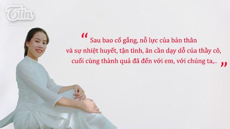 Chân dung của nữ sinh đạt điểm 10 môn Văn ở trường THPT Mỹ Tho, Nam Định