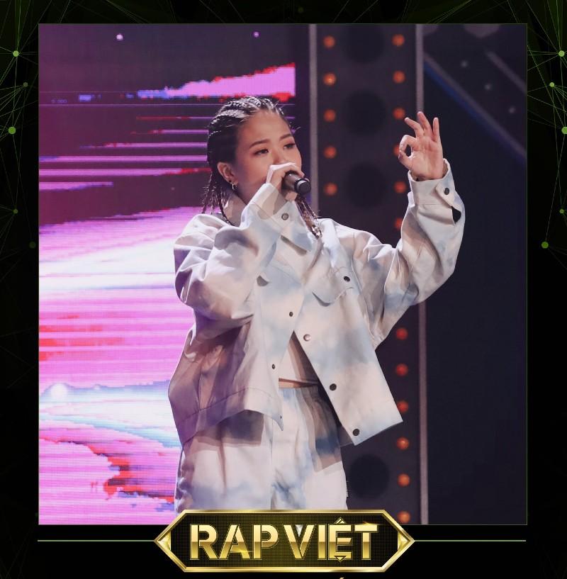 Tlinh là thí sinh nổi bật trong Rap Việt