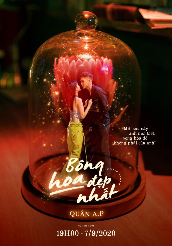 Quân A.P tung poster MV 'Bông hoa đẹp nhất', nghe tựa tưởng vui nhưng poster sao lại buồn thế này? 0