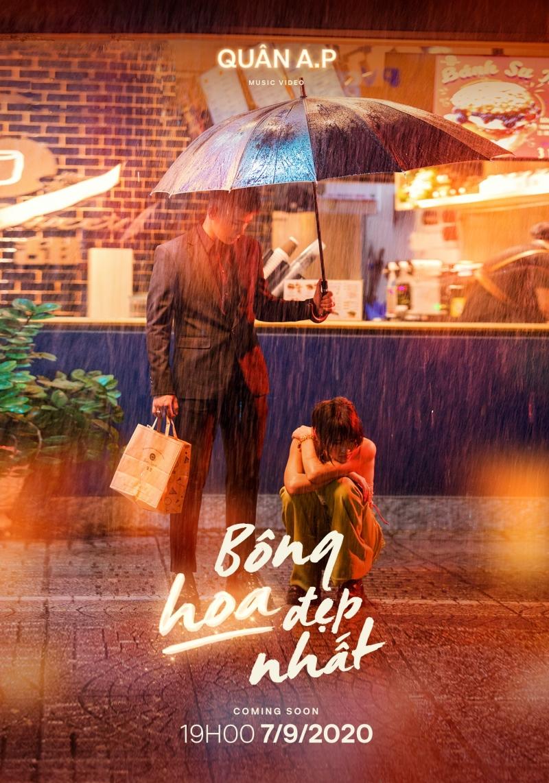 Quân A.P tung poster MV 'Bông hoa đẹp nhất', nghe tựa tưởng vui nhưng poster sao lại buồn thế này? 1