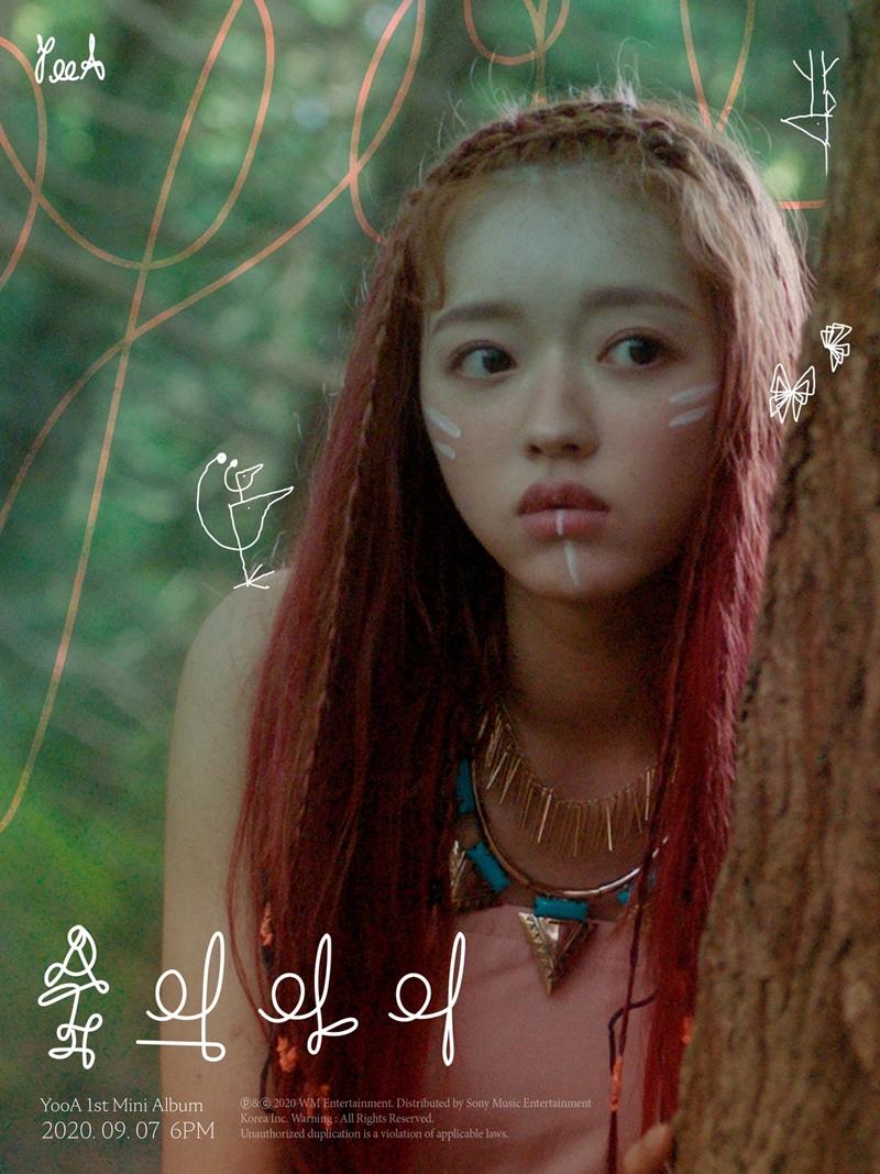 Hóa thân thành 'đứa trẻ của rừng xanh', YooA bắt đầu cuộc hành trình tìm về bản ngã của mình.