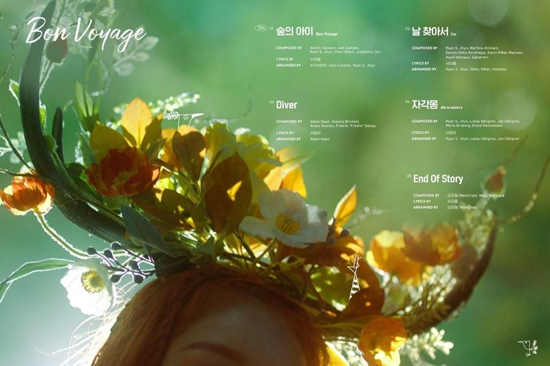 'Bon Voyage' (tiếng Pháp: Thượng lộ bình an) đại diện cho hy vọng về chặng đường solo đầu tiên của YooA. Chúc cho màn debut solo của giọng ca chính Oh My Girl sẽ gặt hái được nhiều 'trái ngọt'.