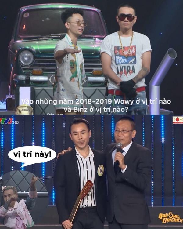 Năm 2019 Binz đã 'đại náo' chương trình của VTV3 khiến MC Lại Văn Sâm vô cùng hào hứng.