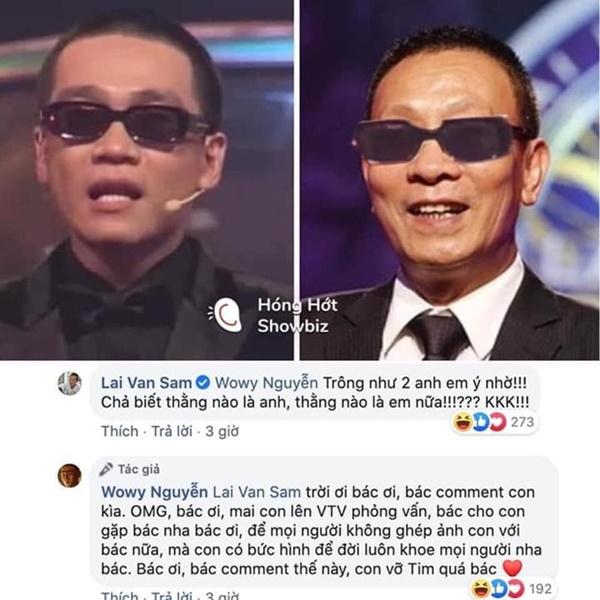 Trong khi Wowy phải cất công bay ra Hà Nội nhưng không gặp thần tượng thì Binz đã được MC Lại Văn Sâm choàng vai rồi này! 3