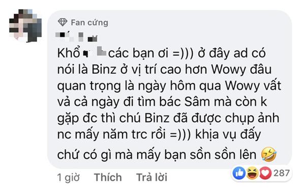 Trong khi Wowy phải cất công bay ra Hà Nội nhưng không gặp thần tượng thì Binz đã được MC Lại Văn Sâm choàng vai rồi này! 8