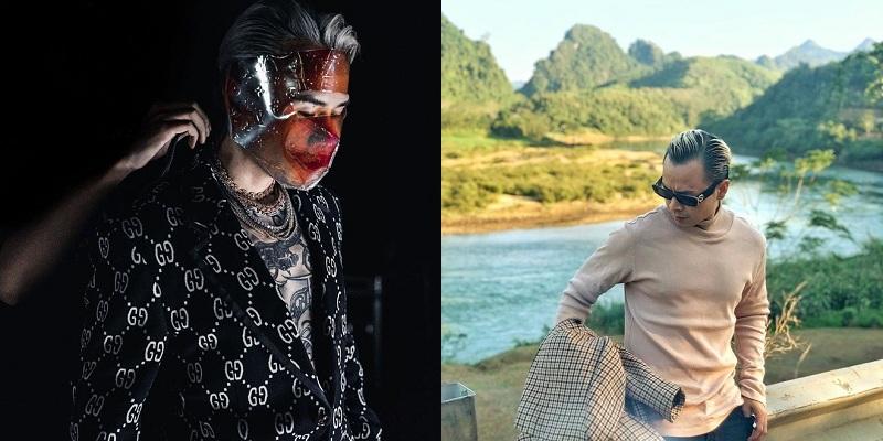 Huấn luyện viên 'Rap Việt'cũng cực 'điên quái' trong phong cách, rất hợp khi sóng đôi với Châu Bùi chẳng kém gì Decao. Anh cũng thường thể hiện sự khác biệt và sức hút 'bụi bặm'của một rapper cùng các items Gucci đắt tiền.