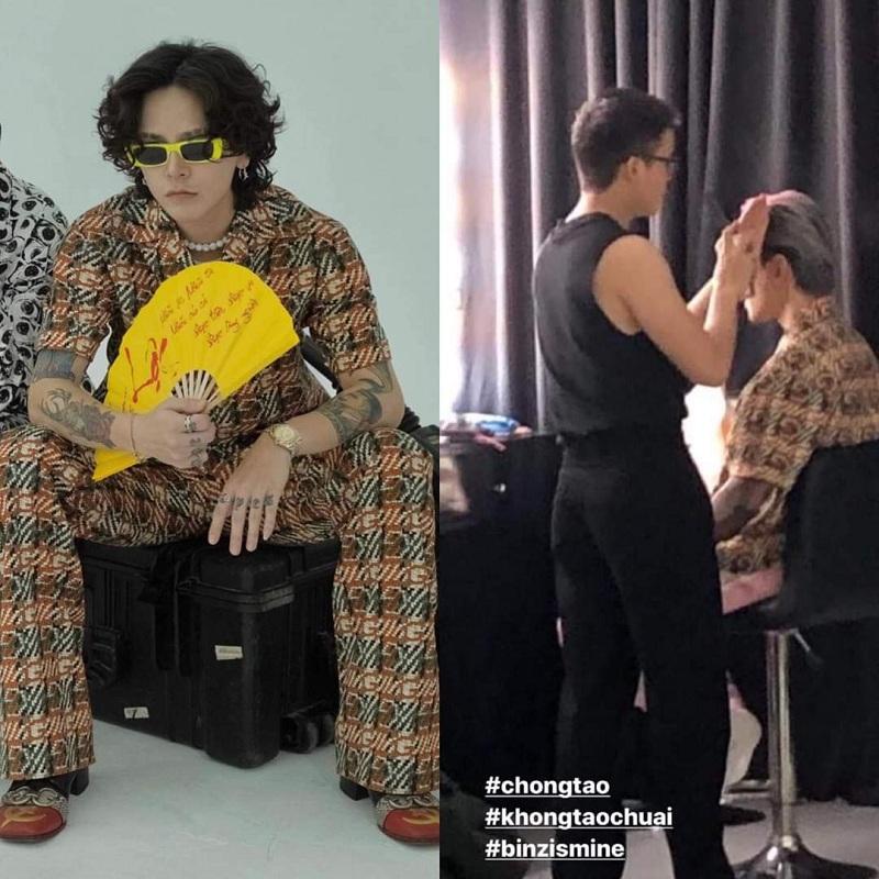 Đáng chú ý, mới đây, netizen đã 'soi'được màn mặc 'đồ đôi'thú vị giữa tình mới - tình cũ của nàng fashionista sành điệu.Nhìn vào bức hình này, chẳng cần 'cân đo đong đếm' về cách lên đồ của họ. Bởi đơn giản, Decao đã toát lên một vẻ cá tính, phá cách, còn Binz thay vì diện cả cây Gucci đã mix&match với một item tông hồng 'thương hiệu'.