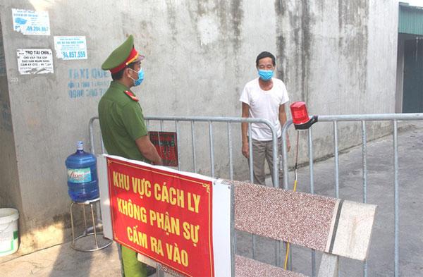 Từ 12h trưa ngày 12/9, khu vực cách ly y tế một phần xóm chợ, thôn Thượng Bì 2, xã Yếu Kiêu sẽ được gỡ bỏ. Ảnh: Đ.Tùy (ncov.moh.gov.vn)