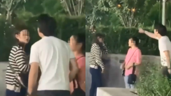 Chàng traichống trả bằng cách tát cô bạn gáingay trên phố.