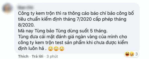 Nhiều bình luận thắc mắc vì sao Sơn Tùng chịu thử nghiệm sản phẩm trước cả khi được kiểm định
