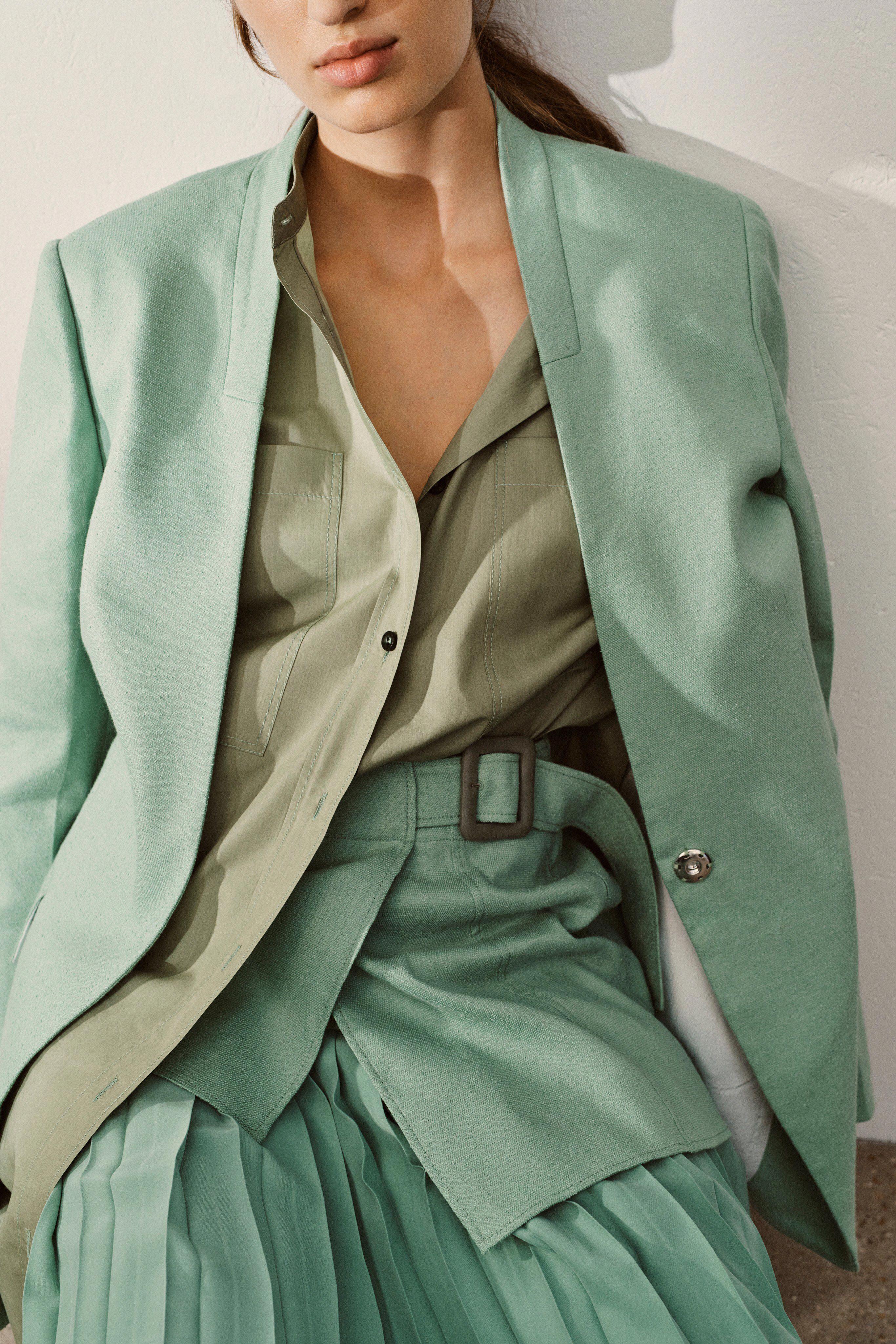Gió mùa về, bạn hãy sắm ngay một chiếc áo blazer màu pastel hot hit năm nay 9