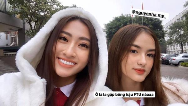 Hà My cũng được biết là mỹ nhân có mối quan hệ thân thiết với Hoa hậu Lương Thùy Linh.