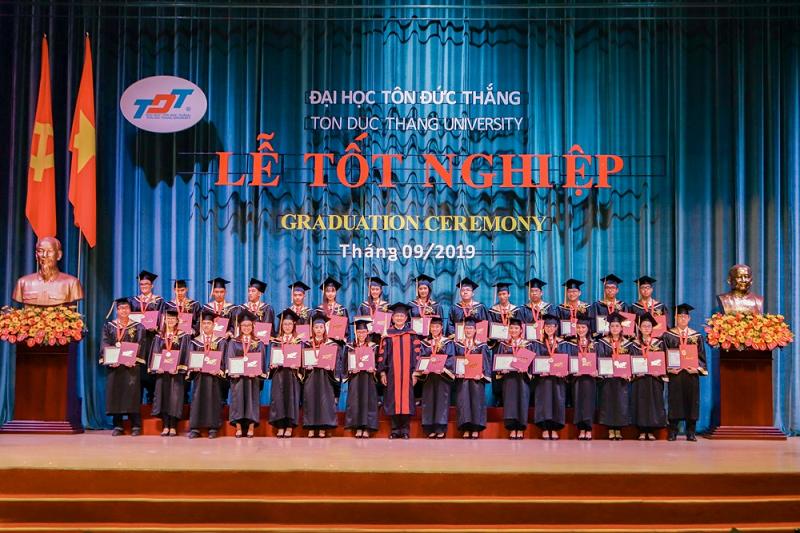 Lễ tốt nghiệp năm ngoái của Đại học Tôn Đức Thắng