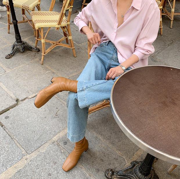 Boots mũi vuông-  item giúp bạn nâng hạng phong cách sang chảnh chỉ trong tích tắc 5