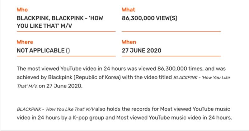 MV được xem nhiều nhất trong 24 giờ trên Youtube.