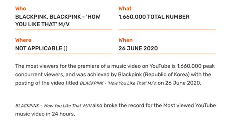 Người xem công chiếu nhiều nhất cho 1 MV Youtube.