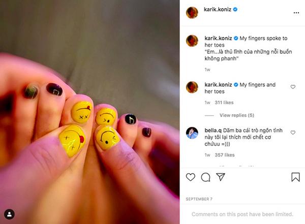 Karik mặc hàng hiệu đắt tiền nhưng bộ nail cực 'bánh bèo' mới là điều khiến người hâm mộ chú ý 3