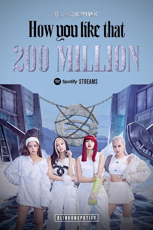 How You Like That trở thành ca khúc thứ 6 của Black Pink cán mốc 200 triệu stream 0