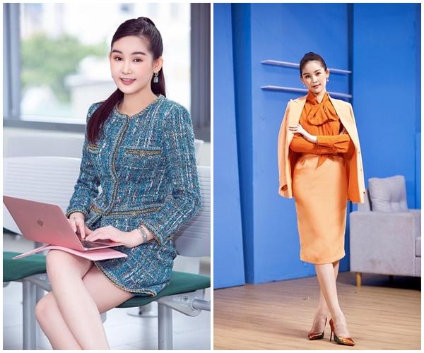 Soi gu thời trang Hoa hậu Lê Âu Ngân Anh, trang phục lên giảng đường toàn item 'đắt xắt ra miếng' 3